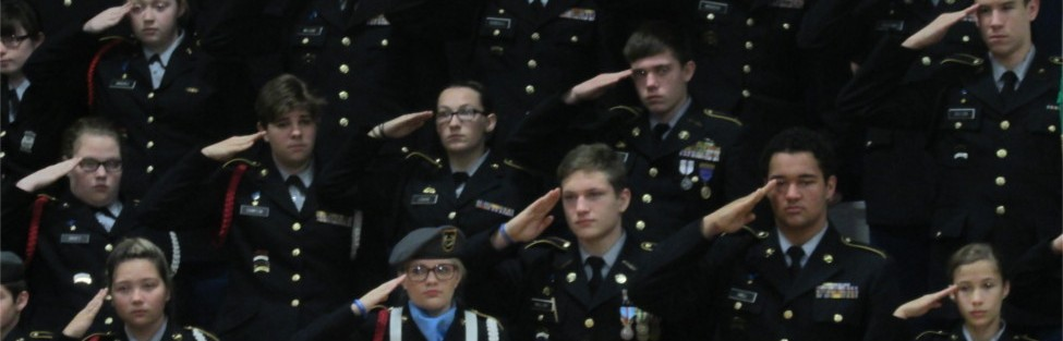 Muhlenberg County High School's JROTC honored war veterans at Muhlenberg North Middle School Veteran's Day program