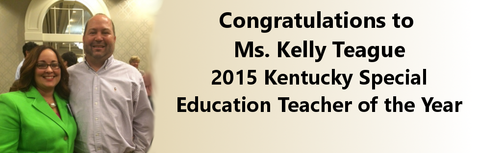 And the winner of the 2015 Kentucky Special Education Teacher of the Year Award is…