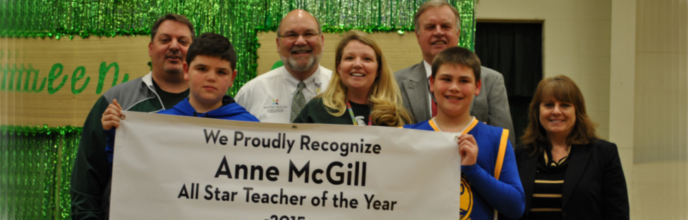 Ms. Anne McGill, Longest Elementary physical education teacher, is named NATIONAL ALL STAR TEACHER OF THE YEAR