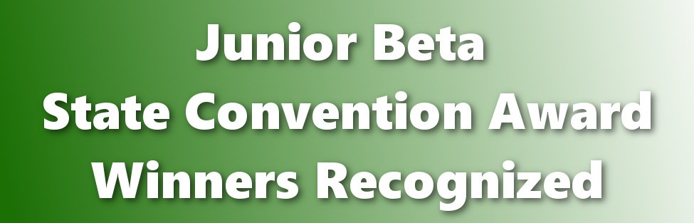 During the March school board meeting, Junior Beta State Convention awardees received recognition.